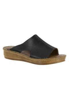 Mae-Italy Sandals by Bella Vita®, BLACK LEATHER