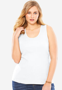 Scoop Neck Rib Tank,
