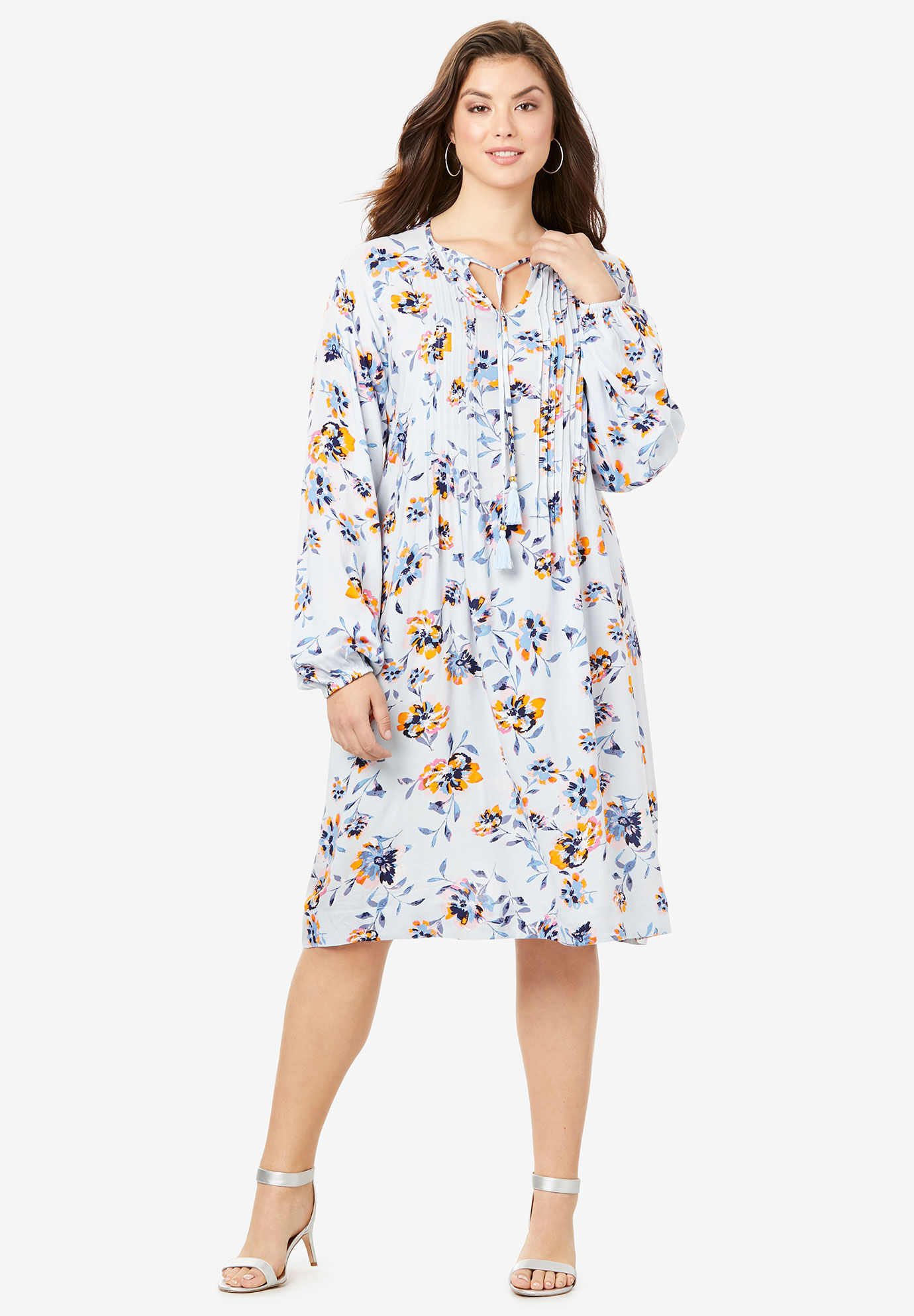 12 W Navy Roamans Womens Plus Size Twist Front Dress