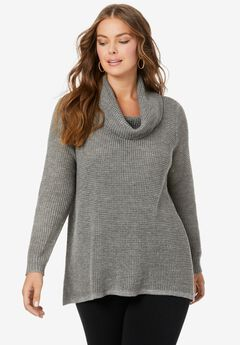 Thermal Cowl-Neck Sweater,