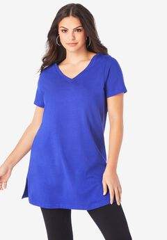 Short-Sleeve V-Neck Ultimate Tunic,