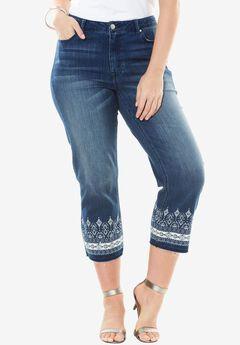 Cropped Bootcut Jean by Denim 24/7®, INDIGO WASH, hi-res