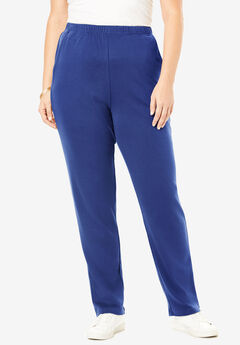 Straight-Leg Soft Knit Pant, ULTRA BLUE