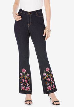 Embroidered Bootcut Jeans,