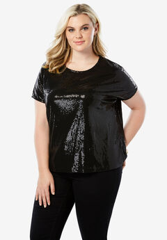 Allover Sequin Tee,