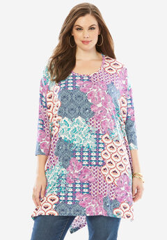 Side Slit Drape Tunic, MULTI PAISLEY PRINT, hi-res