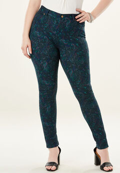 Ultimate Ponte 5-Pocket Pant, PAISLEY PRINT