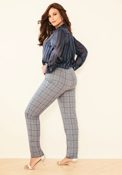 Bend Over® Classic Pant, GRAY PLAID