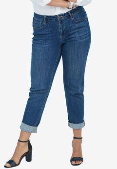 Boyfriend Jean by Denim 24/7®, DARK WASH