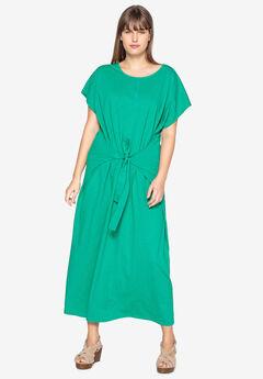 Tie-Front Maxi Dress by Castaluna,