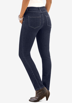 Skinny Jeans with Invisible Stretch® Waistband by Denim 24/7®, DARK WASH
