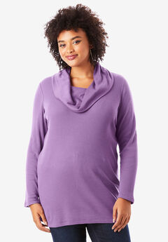 Thermal Cowl Neck Tunic,