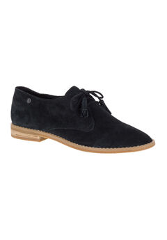 Chardon Oxford by Hush Puppies®, BLACK SUEDE, hi-res