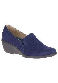 Fraulein Mariya Slip-Ons by Hush Puppies®, ROYAL NAVY NUBUCK, hi-res