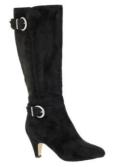Toni II Regular Calf Boots by Bella Vita®, BLACK SUPER SUEDE, hi-res