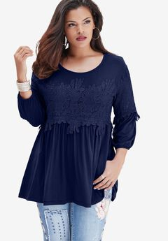 Lace Swing Drape Top,