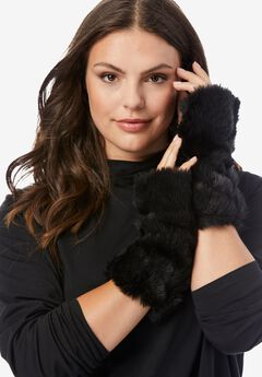 Faux-Fur Gloves,