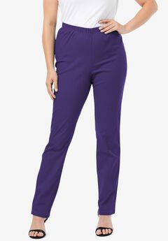 Straight-Leg Pull-On Stretch Jean by Denim 24/7®, MIDNIGHT VIOLET