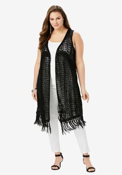 Crochet Duster Cardigan,