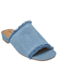 Faryl Mules by Comfortview®, LIGHT DENIM