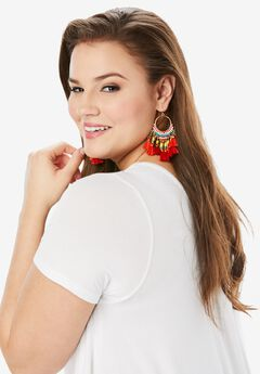 Beaded Tassel Earrings,