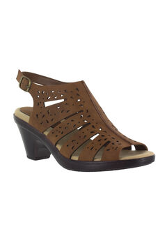 Kamber Sandals by Easy Street®, DARK TAN, hi-res