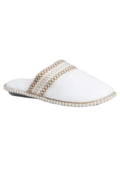 Cathy Closed Toe Slippers by Muk Luks®, LILY WHITE, hi-res