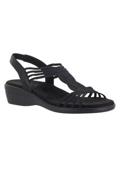 Natara Sandals by Easy Street®, BLACK, hi-res