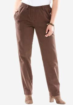 Kate Elastic Waist Jeans, CHOCOLATE, hi-res