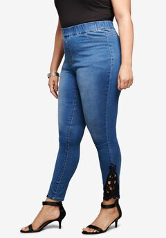 Crochet-Inset No-Gap Jegging,