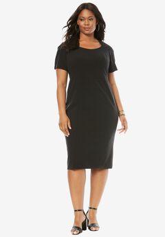 Sheath Dress, BLACK, hi-res