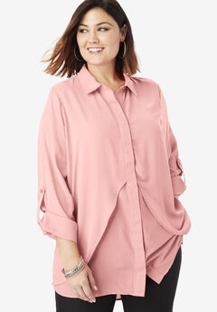 Georgette Overlay Tunic, SOFT BLUSH