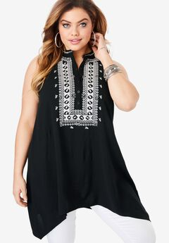 Embroidered Swing Tank,