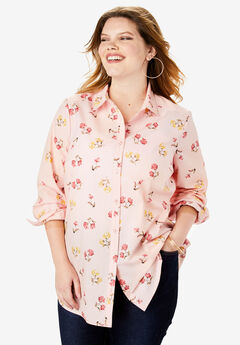 The Kate Shirt, BLUSH TOSSED FLORAL