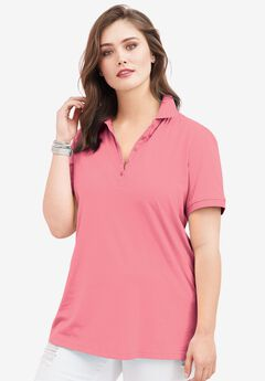 Ultimate Polo Tee, FLAMINGO PINK, hi-res