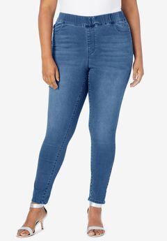 The Straight-Leg No-Gap Jean, MEDIUM STONEWASH