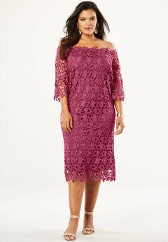 Off -The-Shoulder Lace Dress, RUBY ROSE