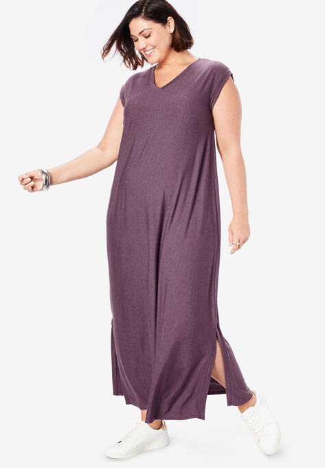 Side-Slit T-Shirt Dress