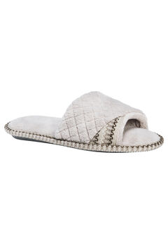 Sally Open Toe Slippers by Muk Luks®, CHAMPAGNE