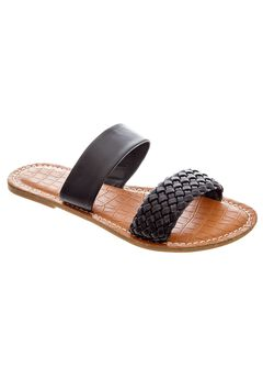 Alexia Sandals by Comfortview®, BLACK