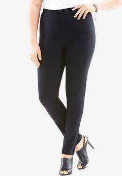 Skinny-Leg Pull-On Stretch Jean by Denim 24/7®, BLACK DENIM