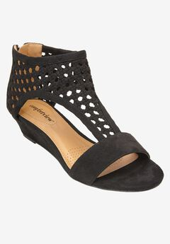 Gwen Sandals by Comfortview®, BLACK, hi-res
