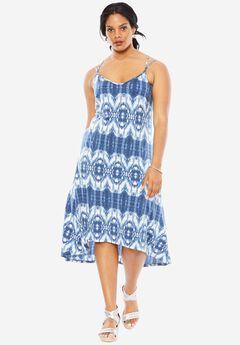 Tie Dye Maxi Dress, BLUE TIE DYE, hi-res