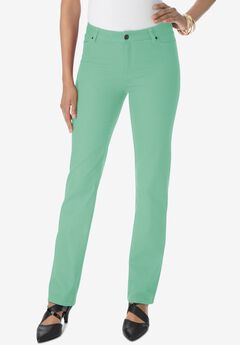 Straight-Leg Jean with Invisible Stretch® by Denim 24/7®, SOFT JADE