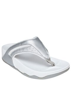 Sporty Thong Sandal by Comfortview, SILVER, hi-res