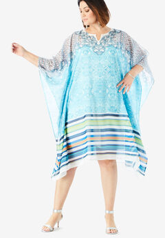 Studded Scarf Dress with Cold Shoulder Detail,