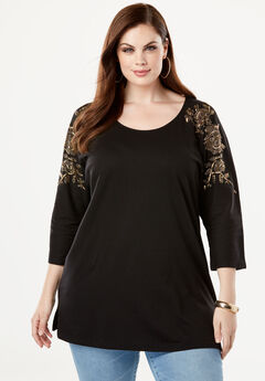 Embellished Shoulder Tunic,