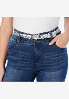 Metallic Braided Belt,