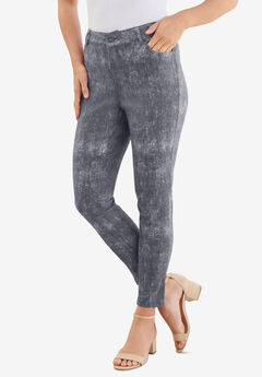 Skinny Jean with Invisible Stretch® by Denim 24/7®, CHARCOAL ACID WASH