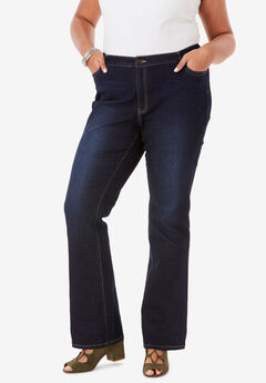 Bootcut Jean with Invisible Stretch® by Denim 24/7®, DARK WASH